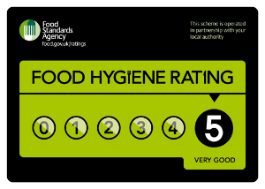 Example of Food Hygiene Rating sticker